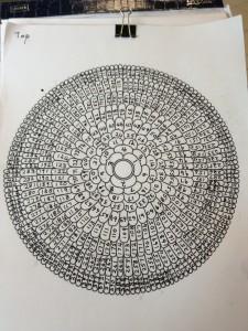 Схема нумерации Диска Саморегенерации Нетленной Материи